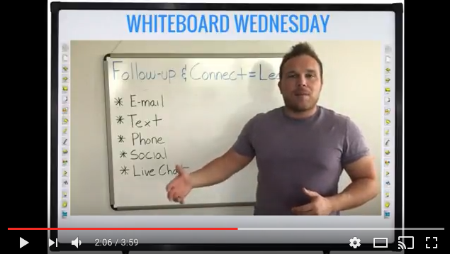 Follow-up and Connect with Leads | Whiteboard Wednesday | Brad Smith HylthLink